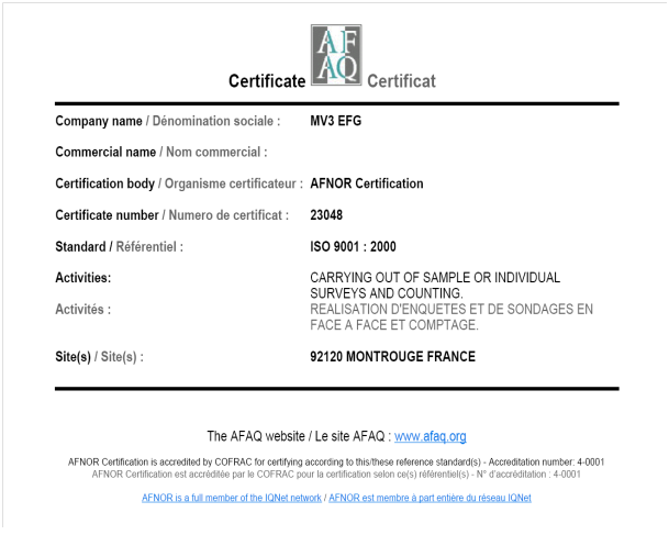 our-iso-certification